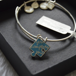 Charity By Design: ALEX AND ANI. You Complete Me Autism Puzzle Piece. Photo belong to keiannajohnson.com